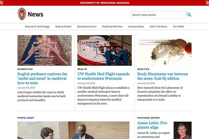 UW News site