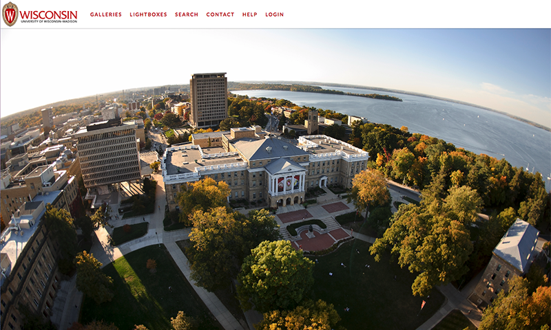Screenshot of UW-Madison's official photography website